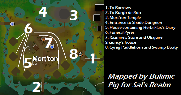 A map of mort'ton