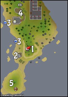 A map of Mudskipper Point