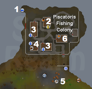 A map of the Piscatoris Fishing Colony