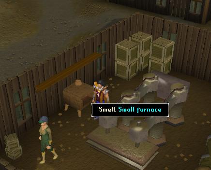 Smelting area