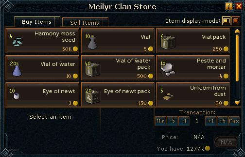 Meilyr clan store