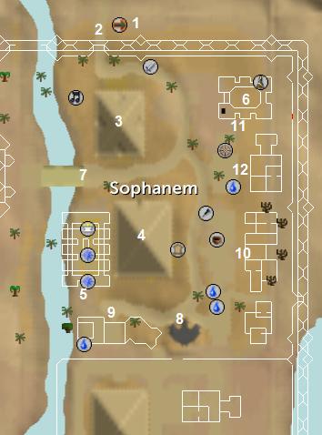 Map of Sophanem