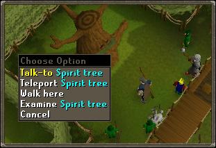 Talk to Spirit tree