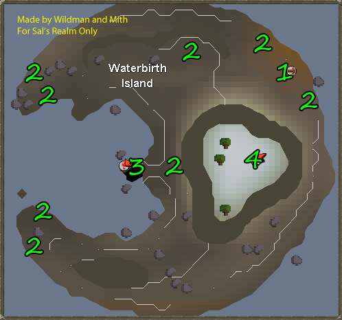 Map of Waterbirth Island