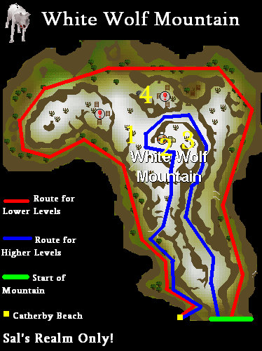 A map of white wolf mountain