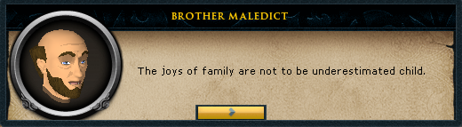 Brother Maledict: the blessings of saradmin be with you child