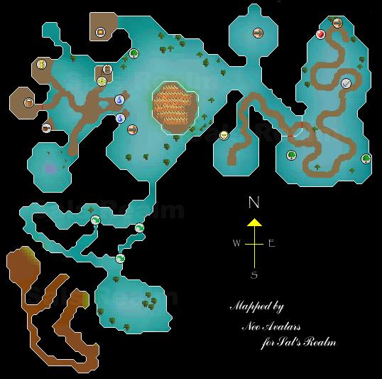 A map of Zanaris