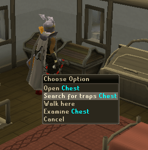 Search for traps chest