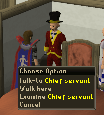 Talk to the Chief Servant