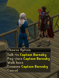 Talk to Captain Barnaby