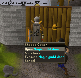 Open magic guild door