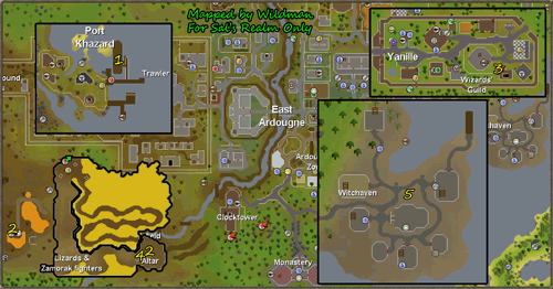 Map of elite task locations