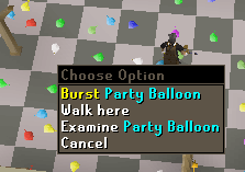 Burst party balloon