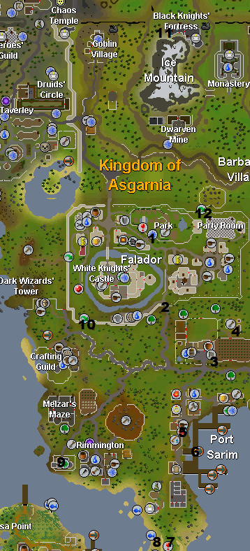 Map of medium task locations