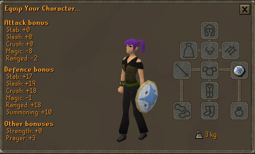 Falador Shield 1 equipment screen