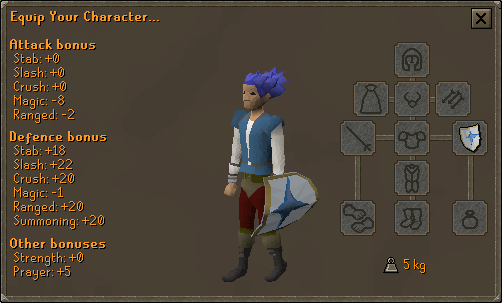 Falador Shield 2 equipment screen