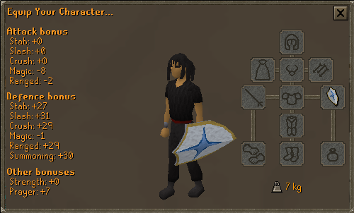 Falador shield 3 equipment screen