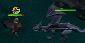 Fighting a mithril dragon