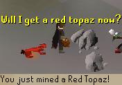 Mine a topaz