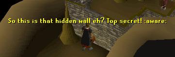 Hidden wall