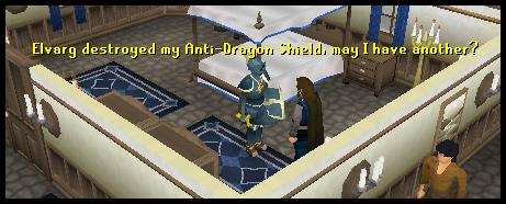 Get a dragonbreath shield