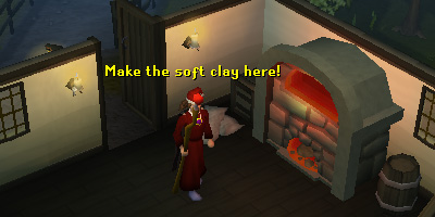 Make the soft clay here in Draynor Village