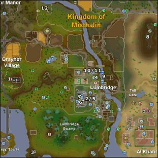 Map of medium task locations