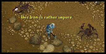 Mine iron