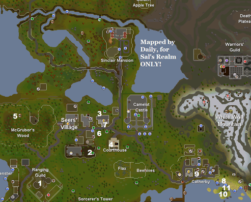 Map of hard task locations