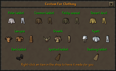 Custom fur clothing