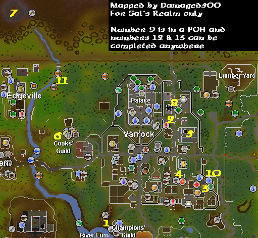 Varrock Tasks hard locations