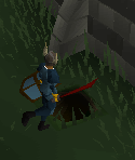 Shortcut under  the varrock palace wall