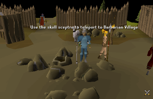 Use the skull sceptre