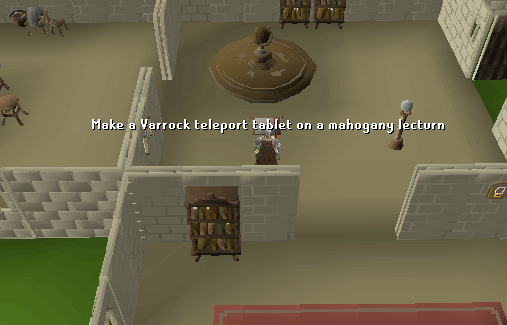 Create a varrock teleport tablet