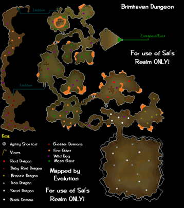 Map of Brimhaven Dungeon