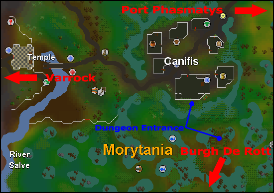 Entrances to the canifis dungeon