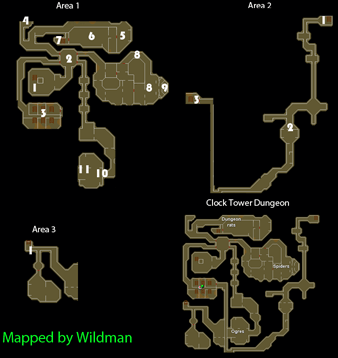 Map of the Clock Tower Dungeon