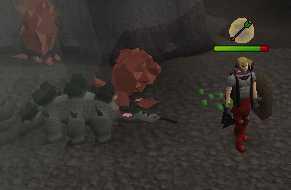Fighting the Monstrous Cave Crawler