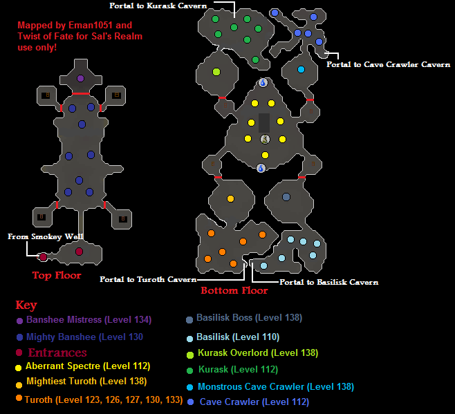 Map of the Desert Slayer Dungeon