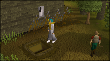 The xecond entrance to the Draynor Sewers