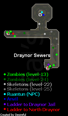 The entrances to the draynor dungeon