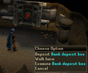 Dwarven Mines Resource Dungeon - Bank Deposit Box