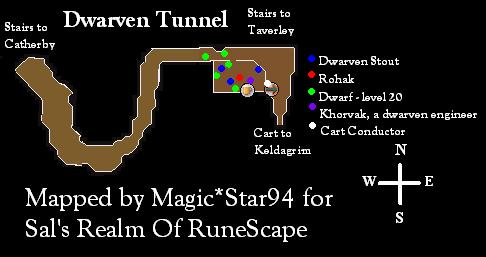 Dwarven tunnel Map