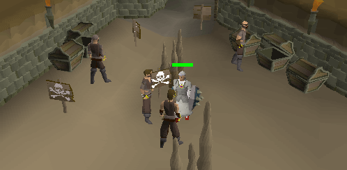 These thugs are guarding some chests