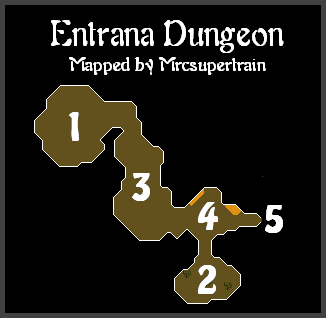 Map of the Entrana Dungeon