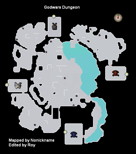 A map of the god wars dungeon