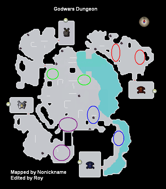 Locations of different killcount areas