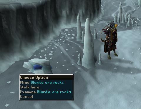 Blurite ore rocks