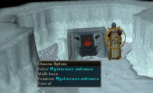 The entrance to the frost dragon resource dungeon