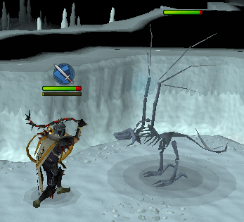 Fighting a Skeletal Wyvern